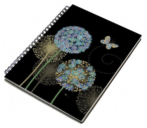 Bug Art Flowers and Butterfly Spiral Notebook A6