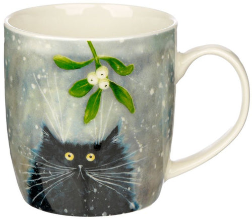 Christmas Cat Porcelain Mug