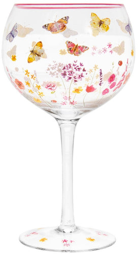 Butterfly Garden Gin Glass