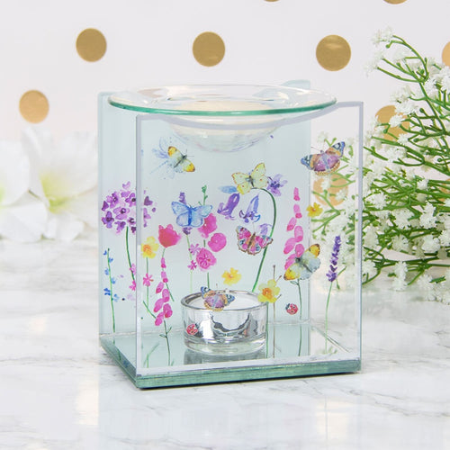 Butterfly Garden Glass Oil/Wax Melt Burner