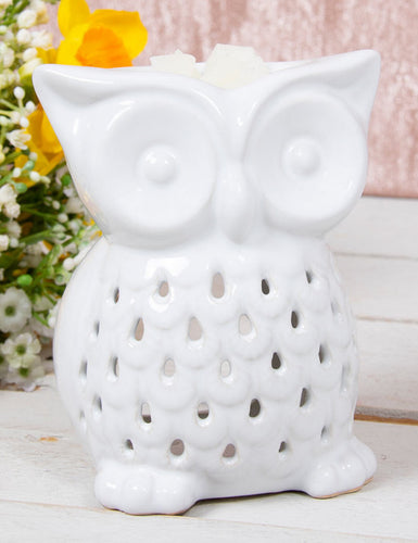 White Owl Wax Warmer 10cm