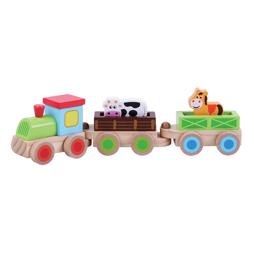 Farm Train with Animals Wooden Toy