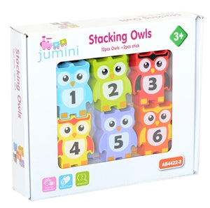 Wooden Owl Stacking Game