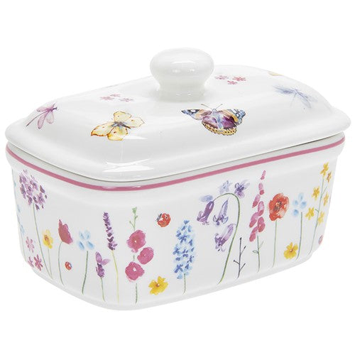 Busy Bees Ceramic Butter Dish