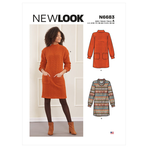 New Look Jumper Dresses Sewing Pattern 6683