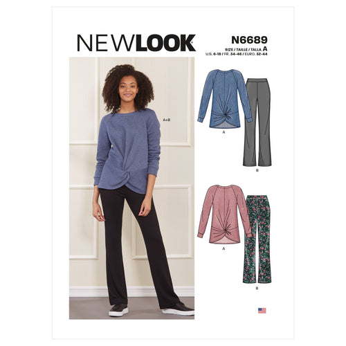 New Look Misses Top and Trousers Co-ordinates Sewing Pattern 6689