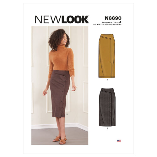 New Look Misses Skirts Sewing Pattern 6690