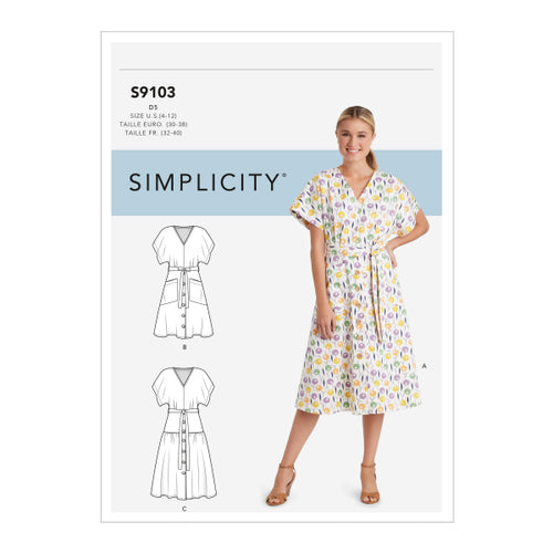 Simplicity Sewing Pattern S9103 Misses' Dresses