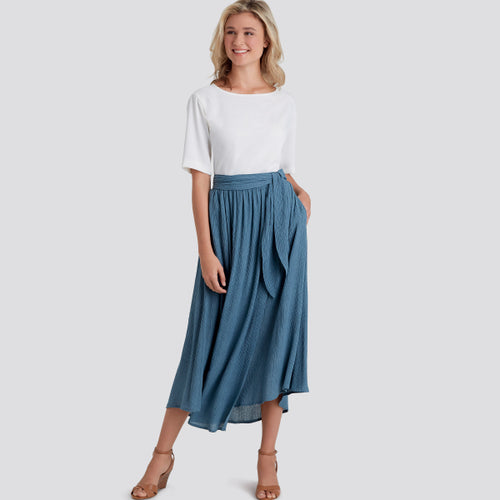 Simplicity Sewing Pattern S9109 Misses' Wrap Skirts Easy