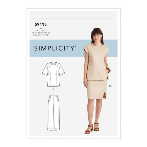 Simplicity Sewing Pattern S9115 Misses' Skirts, Trousers & Tops