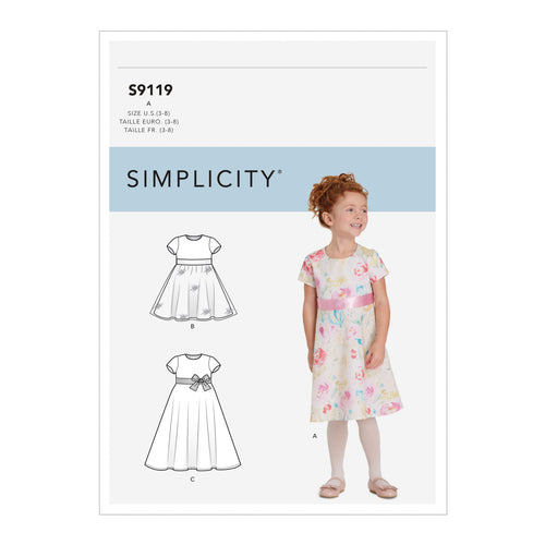 Simplicity Sewing Pattern S9119 Children's Dresses