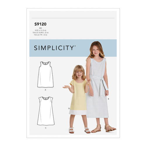 Simplicity Sewing Pattern S9120 Children's & Girls' Dresses