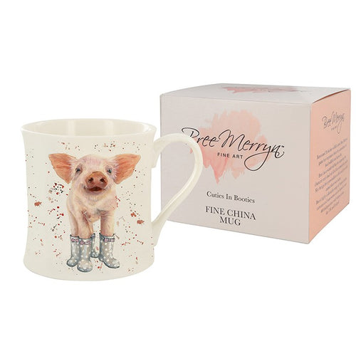 Bree Merryn Penelope Pig Cutie In Booties Fine China Mug