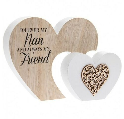 Double Heart Forever my Nan always my friend Plaque-Large