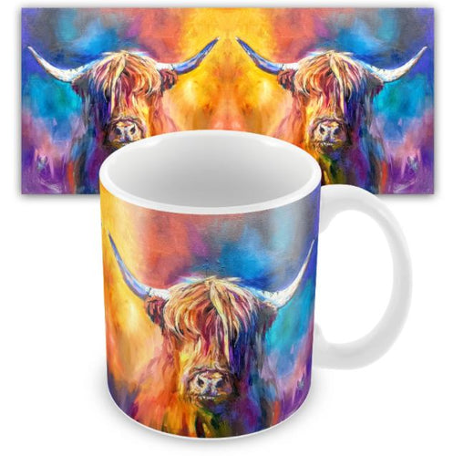 Harris the Highland Cow Ceramic Mug by Sue Gardner