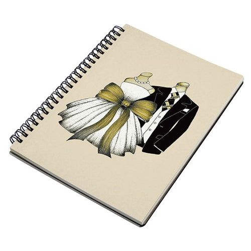 Hagarman Wedding A5 Notebook Bride & Groom