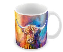 Load image into Gallery viewer, Harris the Highland Cow Ceramic Mug by Sue Gardner