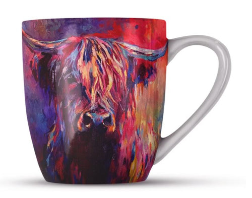 Highland Cow Bone China Mug by Sue Gardner