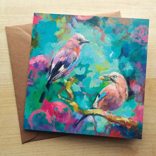 Jays Birds Greeting Card by Sue Gardner