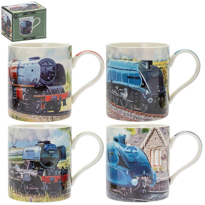 Classic Trains Mugs Assorted choice of 4 Steam Flying Scotsman