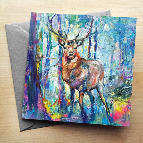 Mystic Stag Greeting Card by Sue Gardner