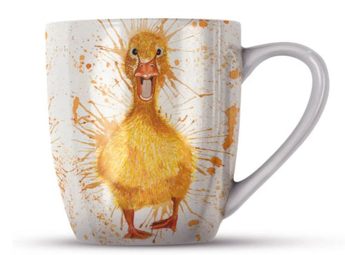 Splatter Duck Bone China Mug by Katherine Williams