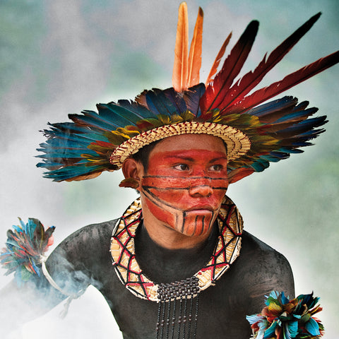 Limited edition print - Amazon tribesman