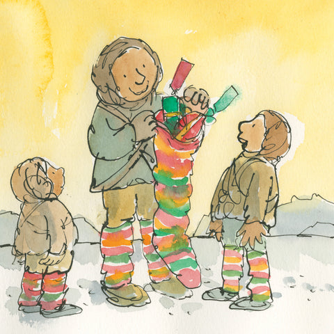 Stocking Surprise cards by Quentin Blake