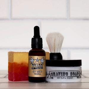 Bay rum & tequila grooming kit