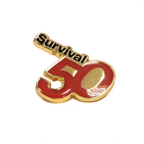 50th Anniversary pin badge