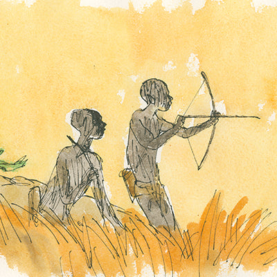 Bushmen greeting cards by Quentin Blake