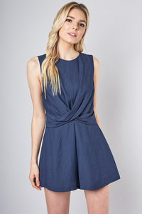 Wrap Me Up Navy Romper