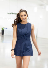 Load image into Gallery viewer, Wrap Me Up Navy Romper