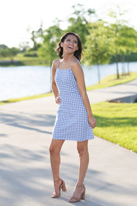Gingham With Me Blue Dress