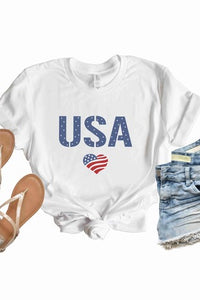 USA White Tshirt