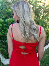Load image into Gallery viewer, Seemingly Red Tie Back Dress