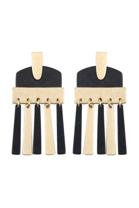 Bianca Black Earrings