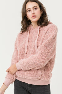 DAILY DEAL - In My Dreams Hooded Faux Sherpa Pullover