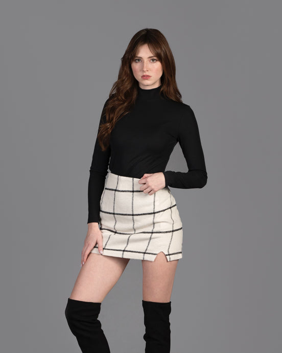 Kiss Me In The Dark Plaid Skirt