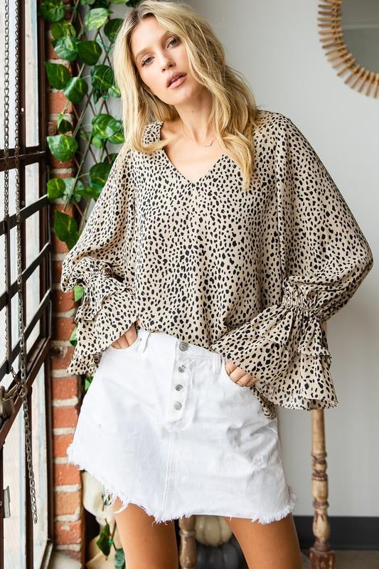 Falling For You Bell Sleeve Top