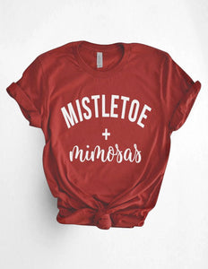Mistletoe and Mimosas Tshirt