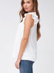 Dreaming Of Game Day Off-White Top