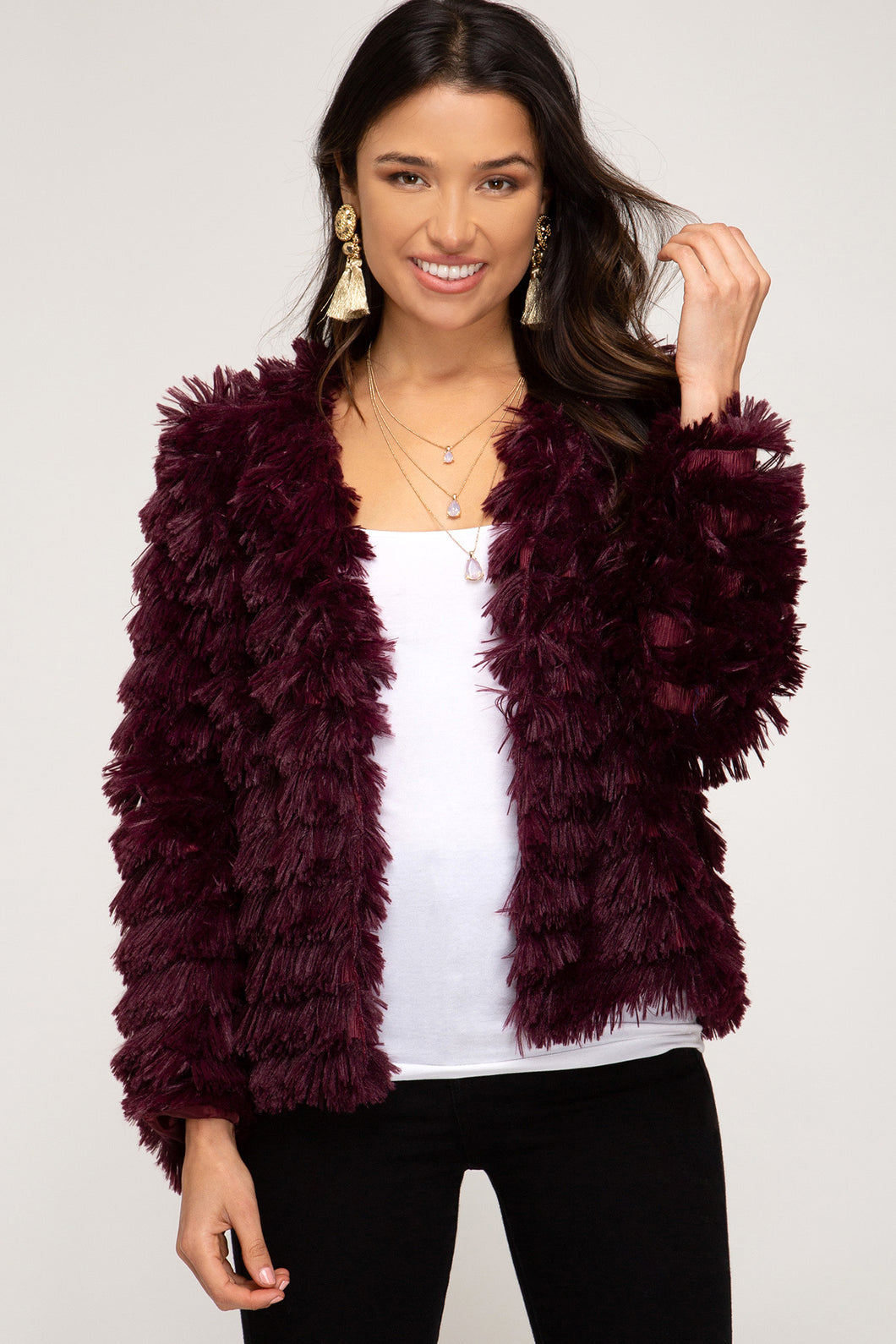 Holy Chic Layered Faux Fur Jacket