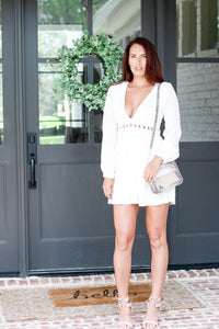 Xoxo Criss Cross White Dress