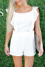 Load image into Gallery viewer, Eyelet It Be White Romper