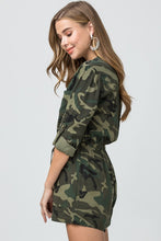 Load image into Gallery viewer, Camo Queen Romper