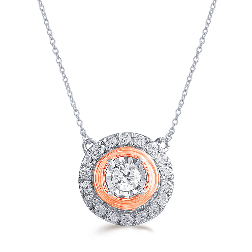 Fifth and Fine 1//10ct tw Diamond Pear Cluster Fashion Pendant in Sterling Silver with 18 Cable Chain