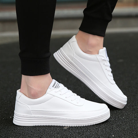 Sneakers for Men Vulcanized Shoes Simple Round Toe Casual Shoes Mens White Daily Footwear Male Big Size 36-47 Fashion Walkerpeak