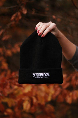 YDWYA Beanie (black) - You Decide Who You Are