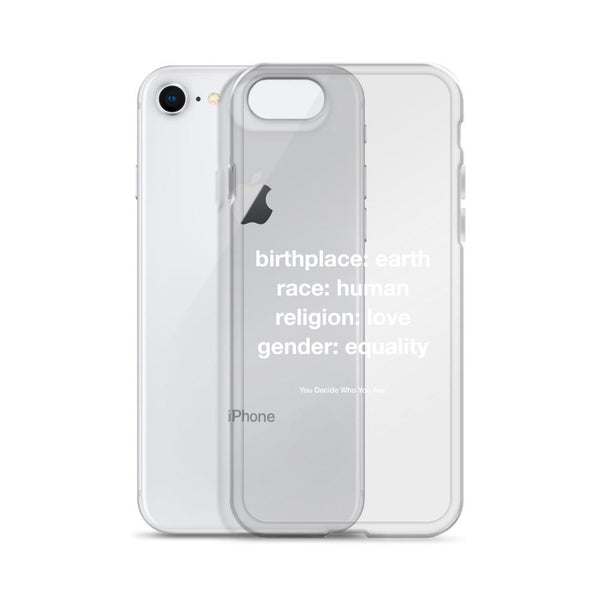 You Decide Who You Are iPhone Case